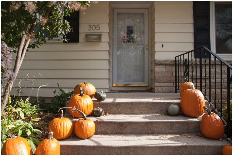 Doorstep of a family home in Madison WI