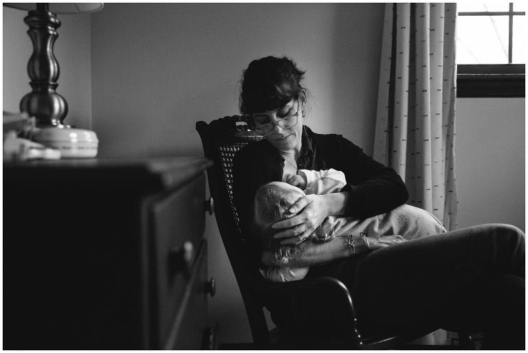 Toddler nursing self portrait