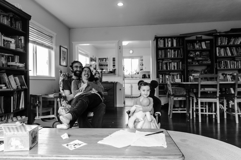 Relaxed family photos at home Madison WI