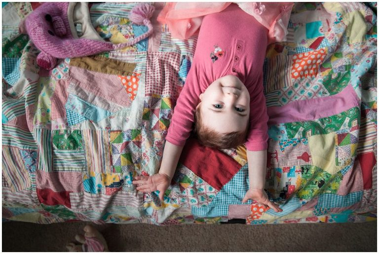 Joyful photos of daughter storytelling photographer