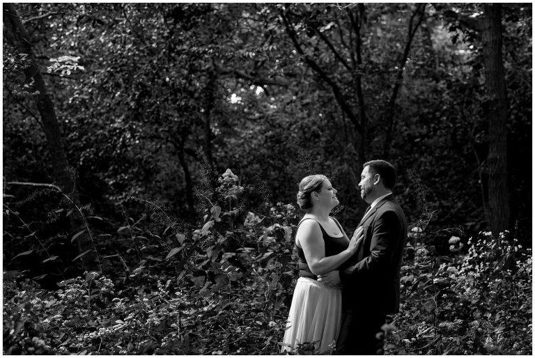 Black and White Wedding portrait Madison WI