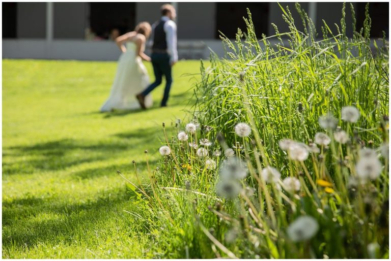 Wildflowers and Wedding Couple at Olin Park
